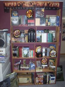 My Lord of the Rings collection back in 2004