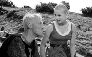 Max Von Sydow and Bibi Andersson in Ingmar Bergman's The Seventh Seal (1957).