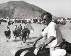 David Lean directing Lawrence of Arabia (1962)