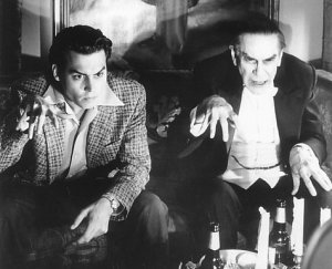 Johnny Depp as Edward D. Wood, Jr. and Martin Landau as Bela Lugosi in Ed Wood (1994)