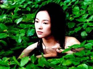 Zhang Ziyi bathing in House of Flying Daggers (2004)