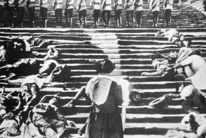 The Odessa Steps sequence of Sergei Eisenstein's The Battleship Potemkin (1925)
