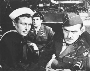 Harold Russell (AA - Supporting Actor), Dana Andrews and Frederic March (AA - Actor) in the 1946 Academy Award winner for Best Picture - The Best Years of Our Lives