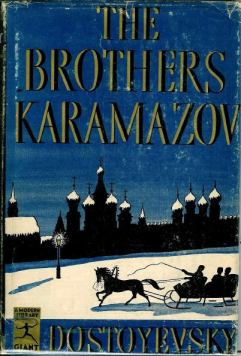 The Modern Library Giant dust jacket for Dostoevsky's The Brothers Karamazov.