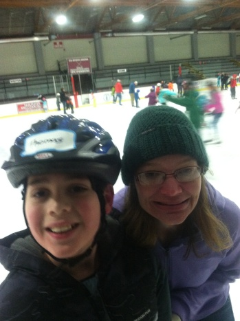 Thomas and Alison enjoying their time in the rink.